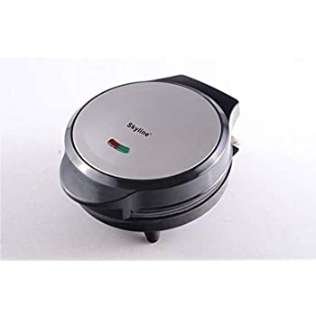 Skyline VTL 5556 Pizza Maker 1 Year Manufacturing Warranty View Shoppers (Black, Silver)
