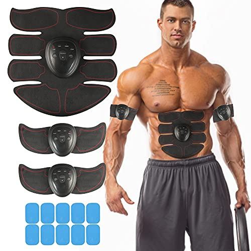 MORPHEUS MAX Muscle Trainer Workout Belt Body Training Abs Workout Equipment Abdominal Training Portable Unisex Fitness Gear for Abdomen/Arm/Leg Training Home Office Exercise