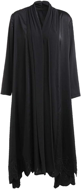 LHHJ Coat Polyester Long Sleeve midLength Black Women's Jacket