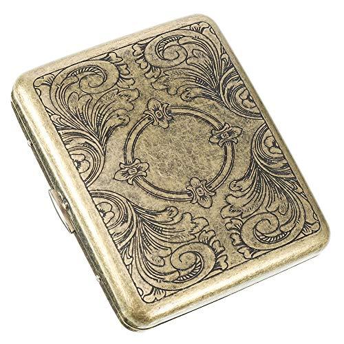 You&Lemon Cigarrillo Caja Metal para 20 Cigarrillos Caja de Cigarrillos Antiguos con Aspecto Elegante Pitillera Portátil de Cgarrillos de Almacenamiento para Cigarrillos