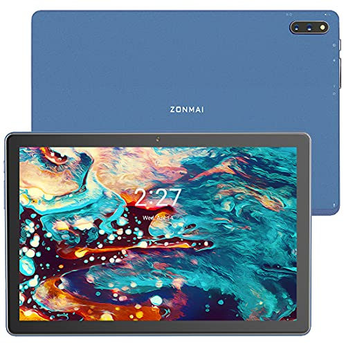 ZONMAI MX2 Tablet 10.1 Pulgadas Android 10.0 | Tableta 5G WiFi Ultrar-Rápido Quad-Core 1.6GHz 4GB RAM + 64GB ROM | 5MP + 8 MP 8000mAh Bluetooth 5.0 GPS Type-C Google GMS - Azul