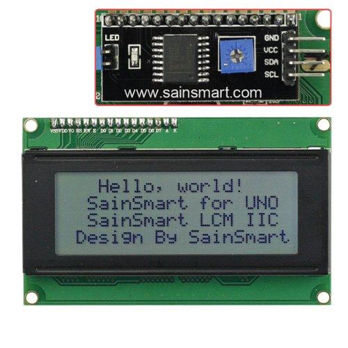 SainSmart IIC/I2C/TWI Serial 2004 20x4 LCD Module Shield White Blacklight for Arduino UNO MEGA R3