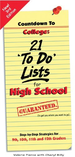 Countdown To College: 21 'To Do' Lists for High School: Step-By-Step Strategies for 9th, 10th, 11th and 12th Graders by Valerie Pierce, Cheryl Rilly (2014) Paperback