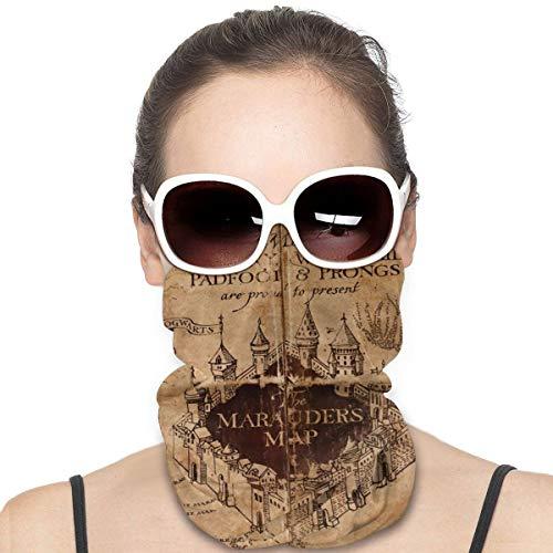 NA Variety Kopftuch Halswärmer Bandanas Outdoor Kopfbedeckung Schal Halstuch Bandanas für Männer und Frauen Bandana Marauders Map