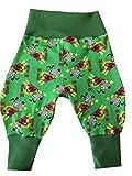 Babyhose Gr. 62 verschiedene Muster, Baby Pumphose, Sweathose, grün, Hund, C-Fashion-Design