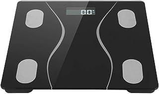 AMONIDA Material de Silicona de Alta Elasticidad Báscula electrónica, Báscula de Peso Negra, Pantalla LCD HD anticolisión Tienda de masajes Profesional Oficina para salón Tienda Inicio(#1)