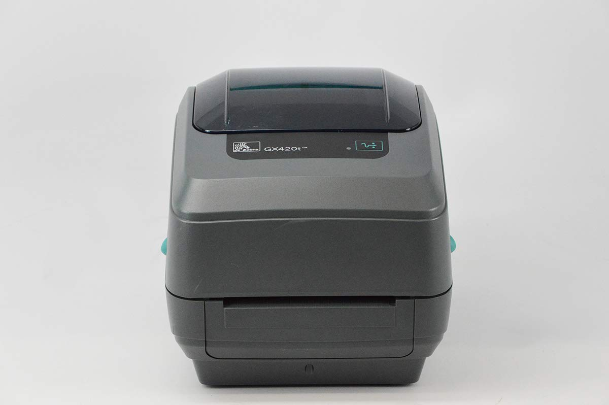 Zebra GX420t Monochrome Desktop Direct Thermal/Thermal Transfer Label Printer with Fast Ethernet Technology, 6 in/s Print Speed, 203 dpi Print Resolution, 4.09