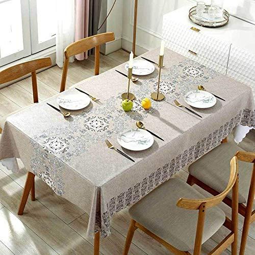 LZCM Mantel redondo impermeable para jardín y patio al aire libre con agujero para sombrilla y cremallera, apto para mesa de jardín, barbacoas, reuniones familiares, primavera verano, fiesta.