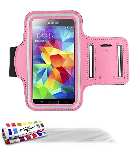 MUZZANO F2501987 - Funda con Brazalete para Samsung Galaxy S4 Advance (Incluye 3 Protectores de Pantalla), Color Rosa