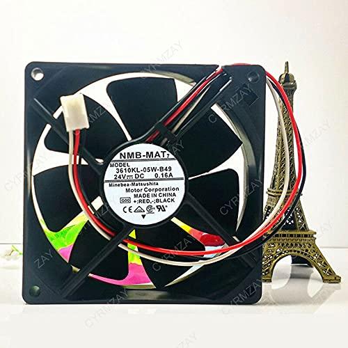 CYRMZAY Compatible for NMB-Mat 3610KL-05W-B49 92 * 92 * 25MM 24V 0.16A 3Pin Cooling Ventilador