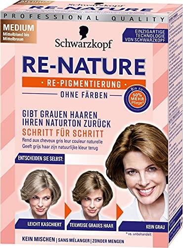 Re-Nature Re-Pigmentierung Haarfarbe Women Medium Mittelblond bis Mittelbraun, 3er Pack(3 x 145 ml)