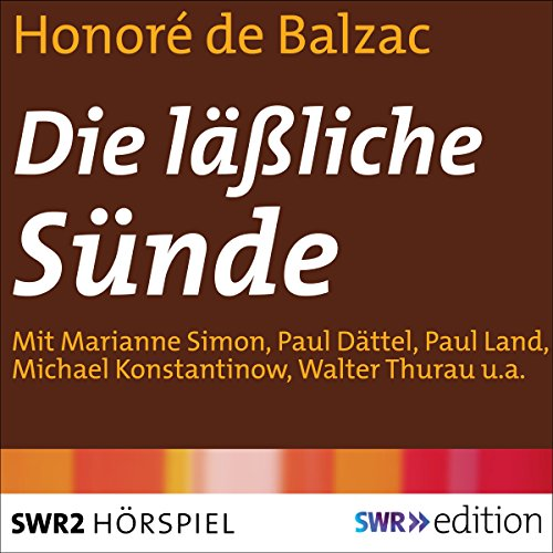 Die läßliche Sünde audiobook cover art