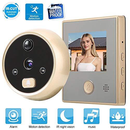 ASHATA Digitaler Türspion, 2,8 Zoll HD TFT-LCD Display Videokamera mit 135 Grad Weitwinkel,Infrarot-Nachtsicht Viewer Überwachungskamera Smart Video Doorbell mit Bewegungserkennung