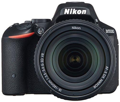 Nikon デジタル一眼レフカメラ D5500 18-140 VR レンズキット ブラック 2416万画素 3.2型液晶 タッチパネル...