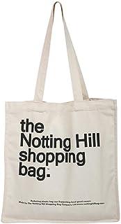 Notting Hill Einkaufstasche für Damen, aus Leinen, für Bücher und Bücher, aus Baumwolle, Schultertasche