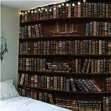 haoziggdeshoop Wandteppich Wandbehänge Kreatives Bücherregal Tapisserie Wandtuch Hausdeko Strandtuch Tagesdecke Boho Deko 260(H) X300(B) cm