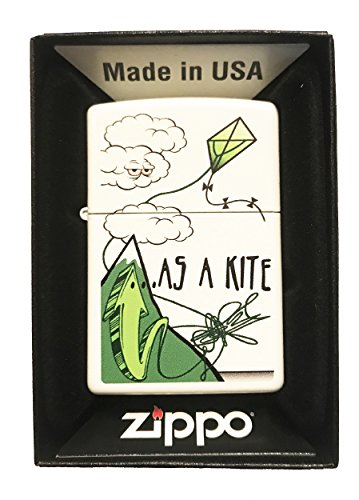 Zippo Custom Weed Marijuana Pot Leaf Lighter quotHigh As A Kitequot White Matte  Gifts for Him for Her for Boys for Girls for Husband for Wife for Them for Men for Women for Kids