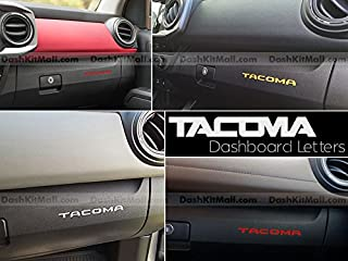 SF Sales USA - Chrome Plastic Letters fits Tacoma 2016-2020 Dash Inserts Not Decals
