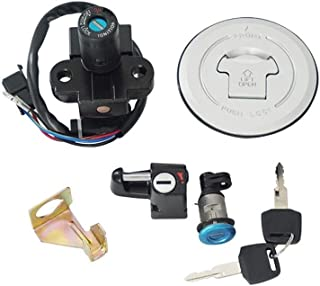BINODA Motorcycle Ignition Switch Fuel Gas Cap Seat Lock Key Set For Honda CBR250R 2011-2013,