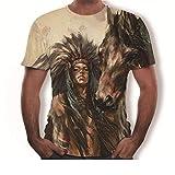Camiseta Blanca Indios Que Imprimen Camisetas Creativas Europeas Y Americanas De Moda-Una_4XL