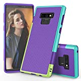 EVERWELL Galaxy Note 9 Case, 3 Color Hybrid Dual Layer