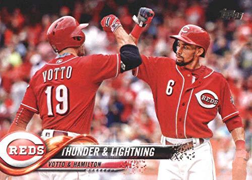 2018 Topps Update and Highlights Baseball Series #US87 Joey Votto Billy Hamilton Thunder Lightning Cincinnati Reds Official MLB Trading Card