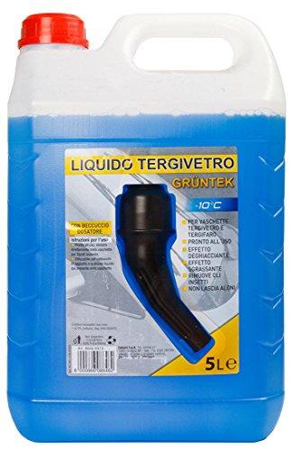 Gruntek Liquido Tergivetro Lavavetri -10° C 5L Litri con Tappo dosatore