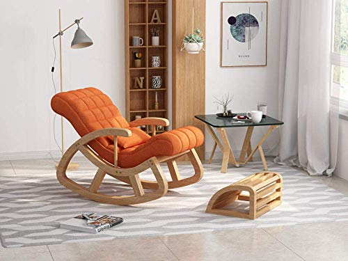 Solid Wood Rocking Chair Adult Solid Wood Bedroom Living Room Recliner Chair Siesta Chair Lazy Sofa Bearing Weight 200Kg