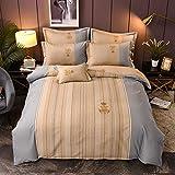 yaonuli Bettwäscheset aus Reiner Baumwolle bestehend aus Vier hautfreundlichen Einzelbettdecken für Doppelbetten 200X230
