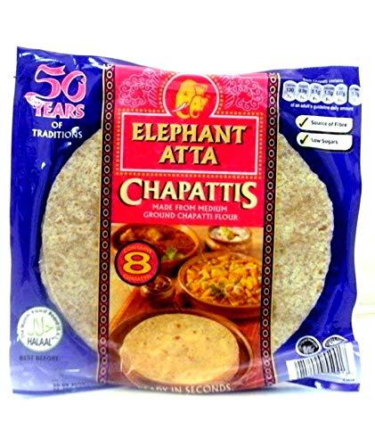 Elefant Atta Chapati (6 Packungen x 8 Chapatis)