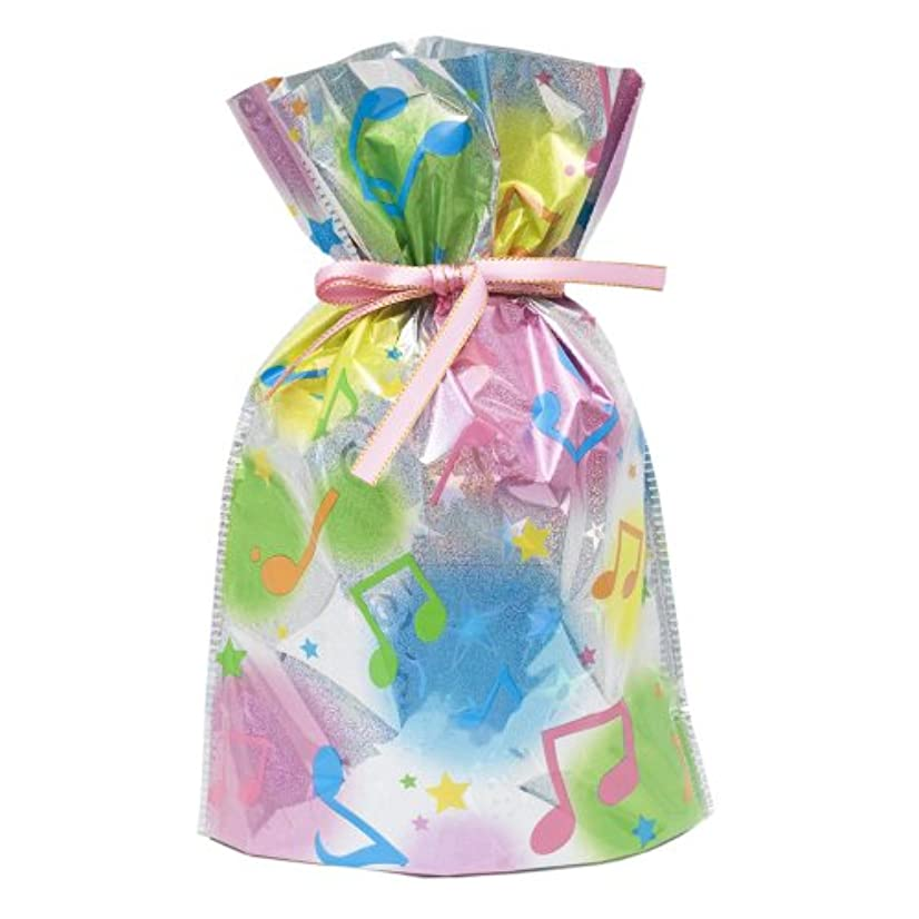 Gift Mate 21007-4 4-Piece Drawstring Gift Bags, Large, Musical Notes