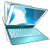 iPad Keyboard Case for 10.2-inch iPad 8th Generation (2020), 7th Gen, Air 3, Pro 10.5 in 11 Colors - 10 Color Backlight, 7 Modes, 360° Rotatable, Slim Protective Cover (10.2/10.5,Green)