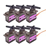 FPVDrone MG90S Servo Micro 9G Metal Geared Servo Motor Upgraded SG90 Servo for RC Helicopter Airplane Boat Controls(6PCS)