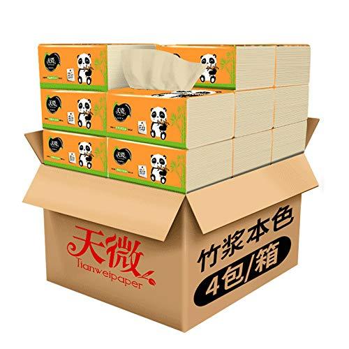 Toilettenpapier Handtuch Pumppapier 12 Packungen FCL Papier Pumpen Bambus Zellstoff Natur Seidenpapier Toilettenpapier Servietten, 12 packs, weiß, 5