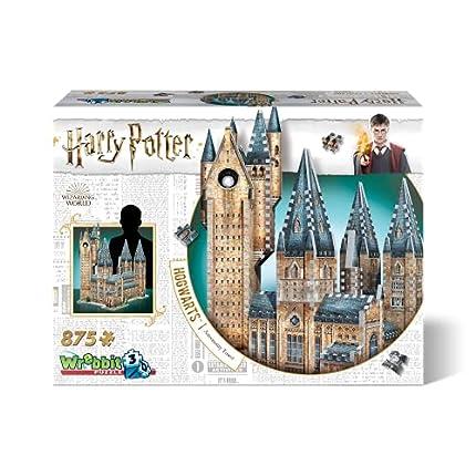Wrebbit 3D-La Torre de la Astronomía de Hogwarts Harry Potter Puzzle 3D, Multicolor (W3D-2015)