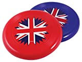 amscan Britain Plastic Frisbees 21cm-1 Pc, Red/White/Blue, One Size
