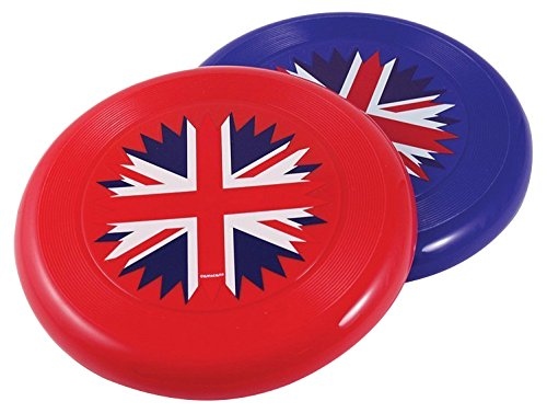 amscan 994844 Frisbee-21cm Britain Plastic Frisbees 21cm-1 Pc, Red/White/Blue, One Size