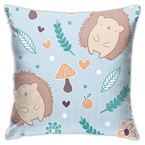 LuoYangShiLaoChengQuTianYuGangCaiXiaoShouBu Cute Autumn Hedgehogplush Pillowcase Romantic Living Room Family Bedroom Pillowcase 18 X 18 Inches