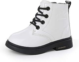 Bebe Botines Niña Cuero Botas Niña Zapatos de Invierno para Niñas Niños Calentar Impermeable Antideslizante para Interior ...