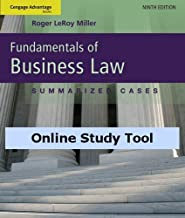 CourseMate for Miller's Cengage Advantage Books: Fundamentals of Business Law: Summarized Cases, 9th Edition