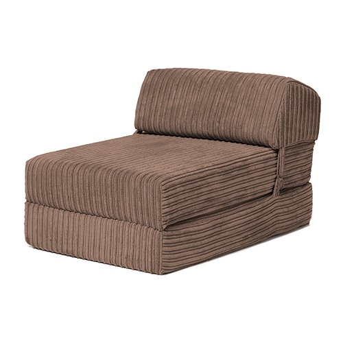 Changing Sofas | 'Bjorn' Jumbo Cord Fold Out Single Z Bed Mattress (Mocha)