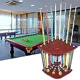 Kacsoo Queue-Rack, Billiard ständer 8 Pool Billard Stick & Ball Bodenständer Modernes Holz Pool Queue Rack, Snooker Billard Queue Halterung für Schule/Heim/Verein Billardwerkzeugen