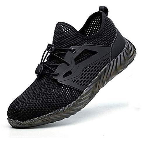 ieenay Zapatos indestructibles para Hombres Botas de Seguridad con Punta de Acero Ryder Zapatillas de Trabajo para Trabajadores Militares