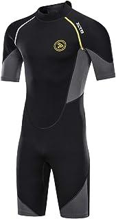 ZCCO Men's Wetsuits 1.5/3mm Premium Neoprene Back Zip Shorty Dive Skin for Spearfishing,Snorkeling, Surfing,Canoeing,Scuba...