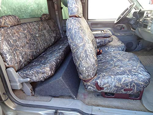 Durafit Seat Covers 1995-2000 Chevy Silverado, and GMC Sierra Truck Xcab Front/Rear Seat Covers for 60/40 Split Seat with Opening Center Console. Conceal Camo Endura