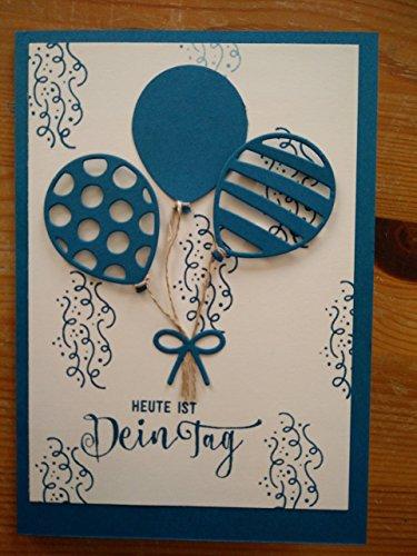 Geburtstagskarte Luftballonstrauß (Stampin up)