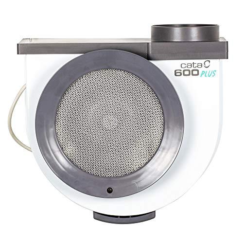 Cata Humos Modelo 600 Plus 2V Cocina silencioso | Ventilador Extractores de Aire | Color, 105 W, 52 Decibeles, Blanco y gris