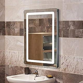 Miroir de Salle de Bain, Miroir Lumineux LED avec Bouton Tactile, pour la Maison, Salle de Bain, Hôtel, Salon de Beauté 70...