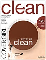 COVERGIRL Clean Pressed Powder Foundation, Creamy Natural, 0.44 Fl Oz (1 Count) (Packaging May Vary)