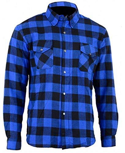 Bikers Gear Australia Herren Freizeit-Hemd mehrfarbig Blau/Schwarz m